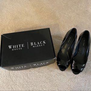 White House Black Market black patent heels 7.5M